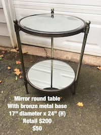 Round mirror side table  Cumming, 30041