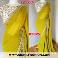 women's yellow and white dress