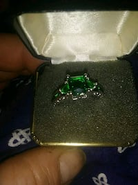 Sterling silver emerald size 7 and a size 8 $50 ea Wayne County, 28333