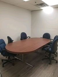Boardroom table with 6 chairs Vaughan, L4K 3W7