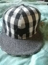 grey and white Fox fitted cap