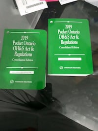 2019 pocket Ontario OH & S Act & Regulations (green book)