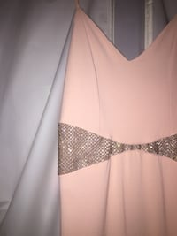 Light pink long dress with silver jewelled middle   Windsor, N8N 4P3
