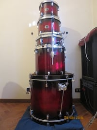 Tama silverstar Custom red burst Massa Finalese, 41034