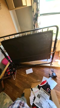 Fold out twin size bed frame