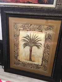 brown wooden framed painting of palm tree Cutler Bay, 33189