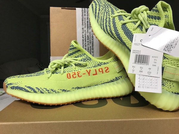 quality design 7bf7c 640ea Yeezy boost 350 v2 semi frozen yellow size us 10