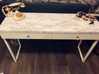Marble table with crystal handles (faux)  New Westminster