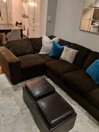 Urban Barn Comfortable Sectional Sofa