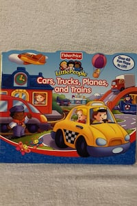 """Fisher Price Little People """"Flap"""" book, Cars,Trucks,Planes,Trains"""
