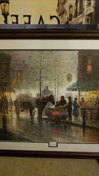 painting of people walking on street Chattanooga, 37421