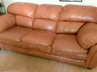 Leather Couch & Loveseat $125 for Set London