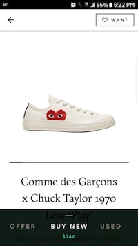 white and red Converse All Star low-top sneaker Bell Gardens, 90201