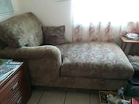 brown and white floral fabric sofa Chula Vista, 91911