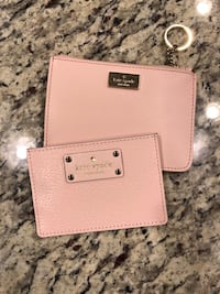 Two rose gold kate spade leather wristlet and coin purse Beltsville, 20705
