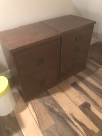 Two Pottery Barn Bedford File Cabinets