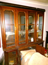 brown wooden framed glass display cabinet Sparta, 38583