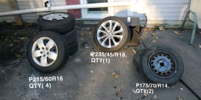USED TIRES + RIMS GOOD CONDITION # NISSAN # HONDA