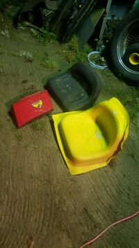 two black and yellow seats