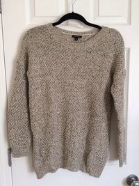 Oatmeal gold threaded sweater- small  Edmonton, T6V 1S7