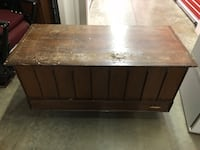 Older chest . Can be used as a coffee table . Very heavy duty solid piece with a bottom drawer as well . Nanaimo, V9T 2N6