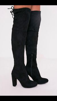 black suede knee high boots Los Angeles, 90068