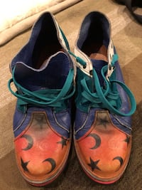 Colourful handmade leather shoes sz 9.5/10 US Burnaby, V5G 3X4