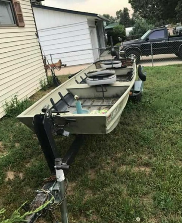 Used 14 Ft Jon Boat With Trolling Motor And Trailer For Sale In Colorado Springs Letgo