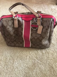 Coach purse-pink and brown  Sterling, 20164