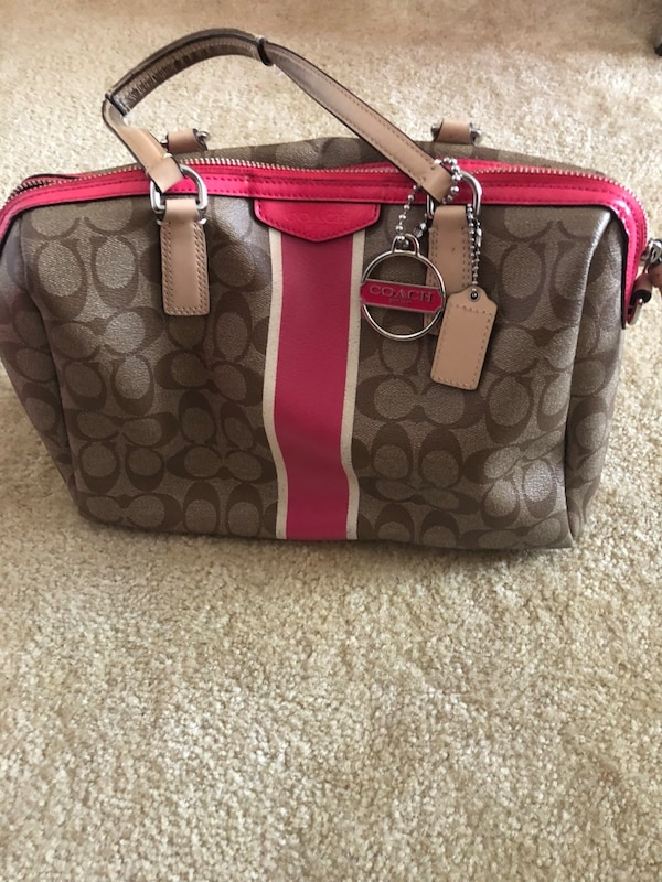 Coach purse-pink and brown