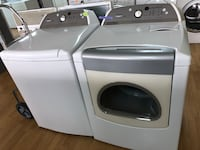 Whirlpool white washer and dryer set  47 km
