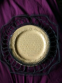 Prayer plate with hanger  Beverly, 67423