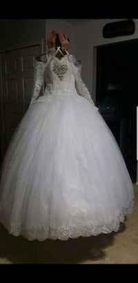 wedding dress with crystals and marbles Bowie