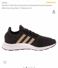 black and white adidas low top sneaker Hyattsville, 20785