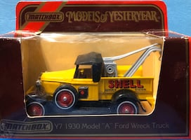 "Matchbox Y7 1930 Model ""A"" Ford Tow Truck ""Shell Service Station"""