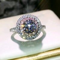 SIZE 5,6,7 SIMULATED DIAMOND,PINK TOPAZ AND CZ RING Saraland, 36571
