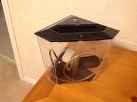 Aquarium small table top with all accessories used