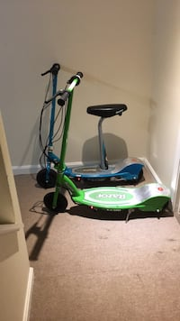 Green and blue razor electric scooter perfect condition just no one uses  Manassas, 20109