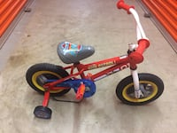 toddler's red and blue bicycle with training wheels Washington, 20015