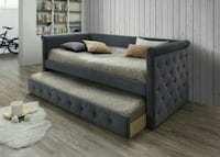 Gabriel Gray Tufted Daybed with Trundle | 2994   Houston, 77036