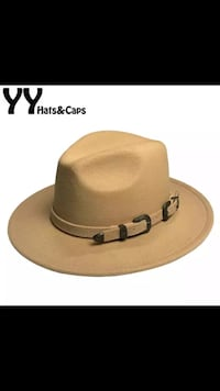 Brown and black Panama style felt hats 31 mi