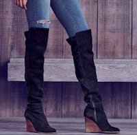 New Vince Camuto Over the Knee Wedge Boots Retail $229 Tempe, 85284