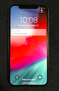 Like new unlocked iPhone X 256gb silver with apple care 552 km