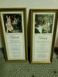 2 framed glass prints -Family Friends Mississauga, L5L 1N4