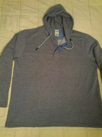 New Men's Large Gray Maritime Hooded Sweatshirt  West Springfield