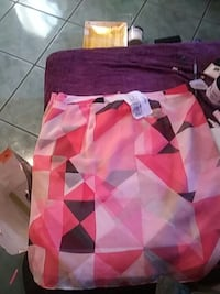 pink and purple skirt