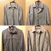 Mens Long Sleeve Button Up Shirts Size large Las Vegas, 89108