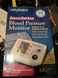 white Life Source blood pressure monitor box New Westminster