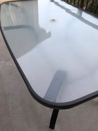 Table for patio or garden. Glass and metal 3713 km