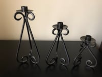 """3 candle holders 10"""" 8"""" 6"""" Orland Park, 60462"""